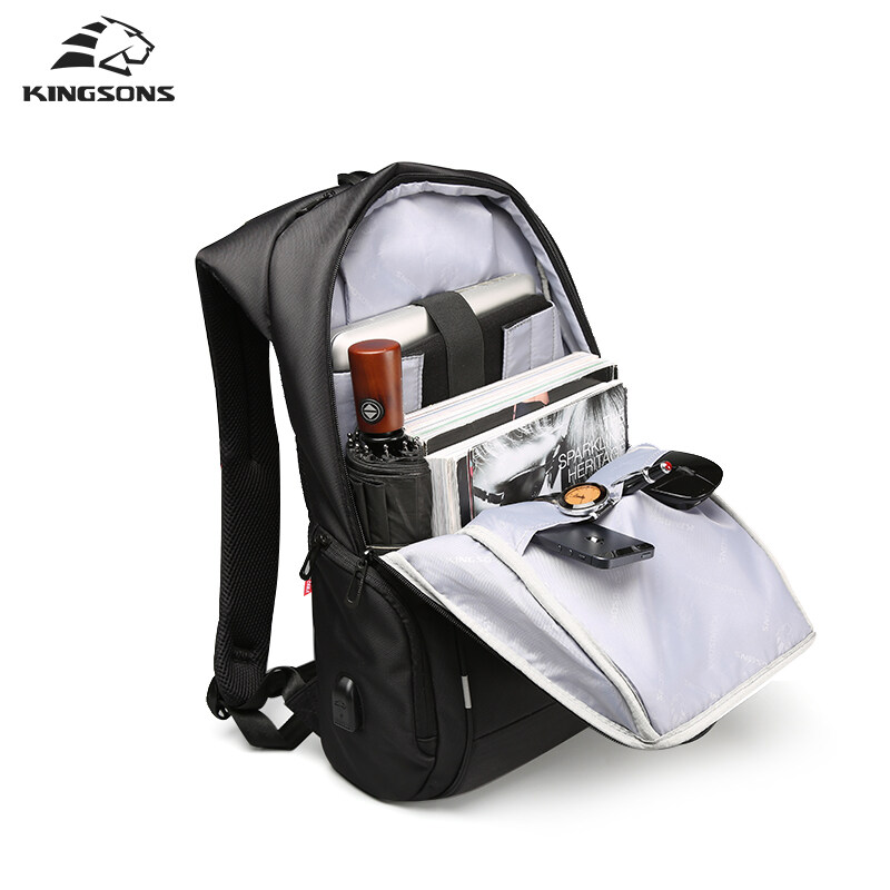 Kingsons Brand 15 6 Men Laptop Backpack External Usb Charge Antitheft Computer Backpacks Male Waterproof Bags Model A Intl Price