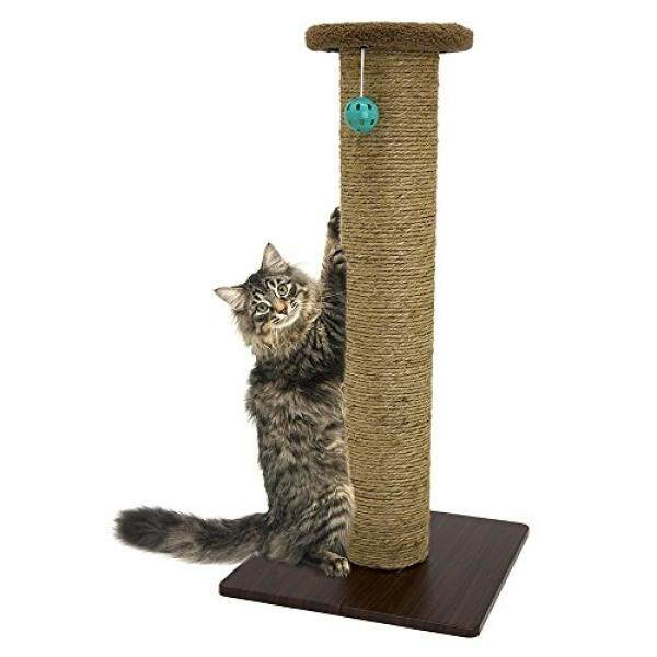 Kitty City Premium Sisal Scratching Post Fleece Bed Furniture, Total Height 32 Inches - intl