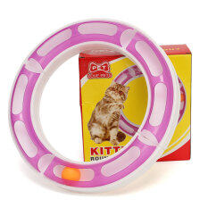 Compare Prices For Kitty Round Bount Play Circuit Pet Cats Toy Interactive Toys Balltrack Intl