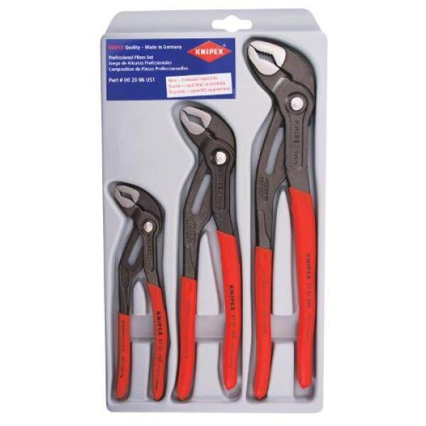 Knipex 002006S1 3-Piece Cobra Pliers Set (7-Inch, 10-Inch, & 12-Inch) - intl
