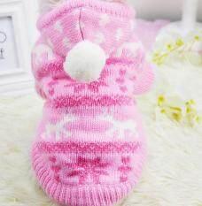Knit Dog Hoodie Sweater Pet Cat Puppy Coat Small Pet Dog Warm Costume Apparel