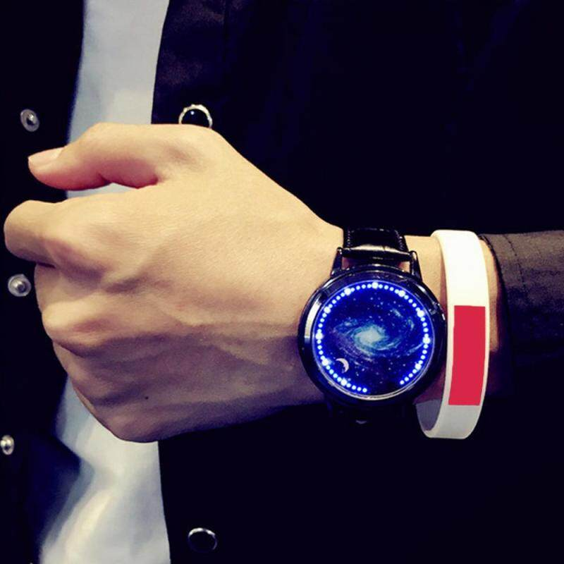 Kobwa Creative LED Watch Personality Blue Light Touch Screen Wristwatch For Couples Lovers (M Code) Malaysia
