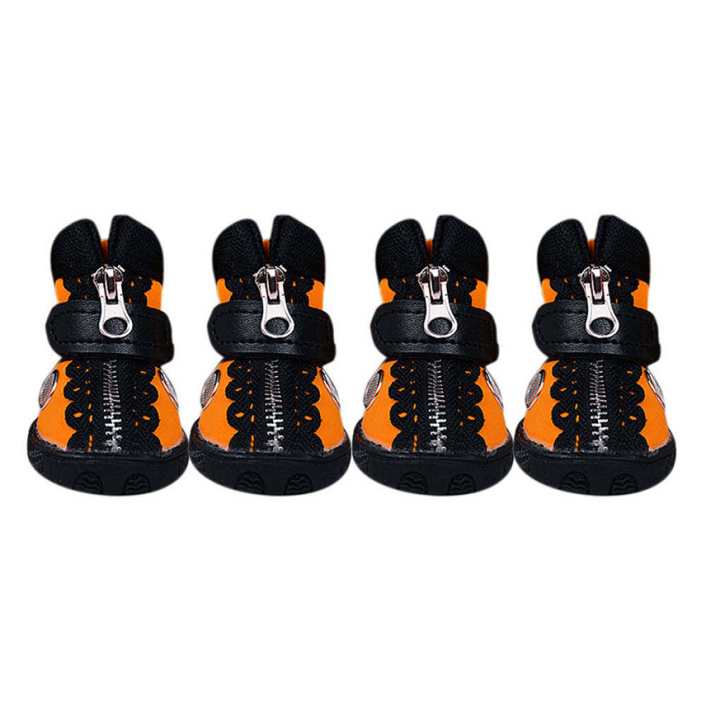 Kunpeng European Style Pet Dog Shoes Pet Shoes Tendon At Theend(orange/black) By Qjq Store.