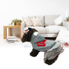 KUNPENG Anjing Piaraan Saat Ini Kecil Kue Olahraga USA Rok Hoodie Jumpsuitpetcostumes (gray-L)-Intl