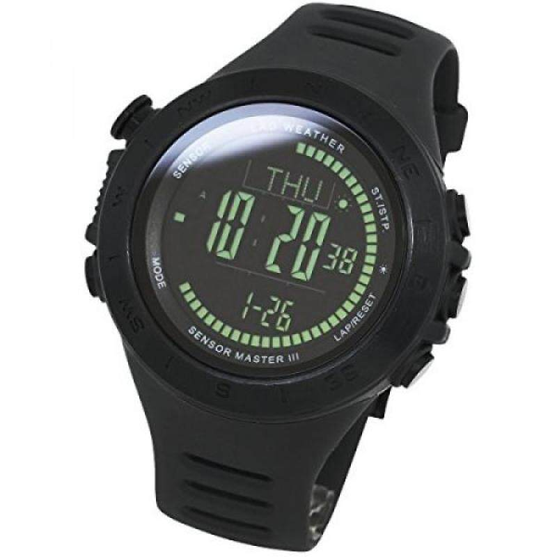 [LAD WEATHER] Swiss sensor Altitude/ air pressure / Digital Azimuth Storm alarm Step counter watch Malaysia
