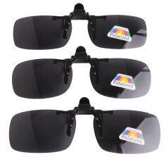 LALANG Sunglass Goggle Product Polarized Flip Up Sunglasses Clip Eyeglass Unisex Clip Eyewear Black Grey Myopia
