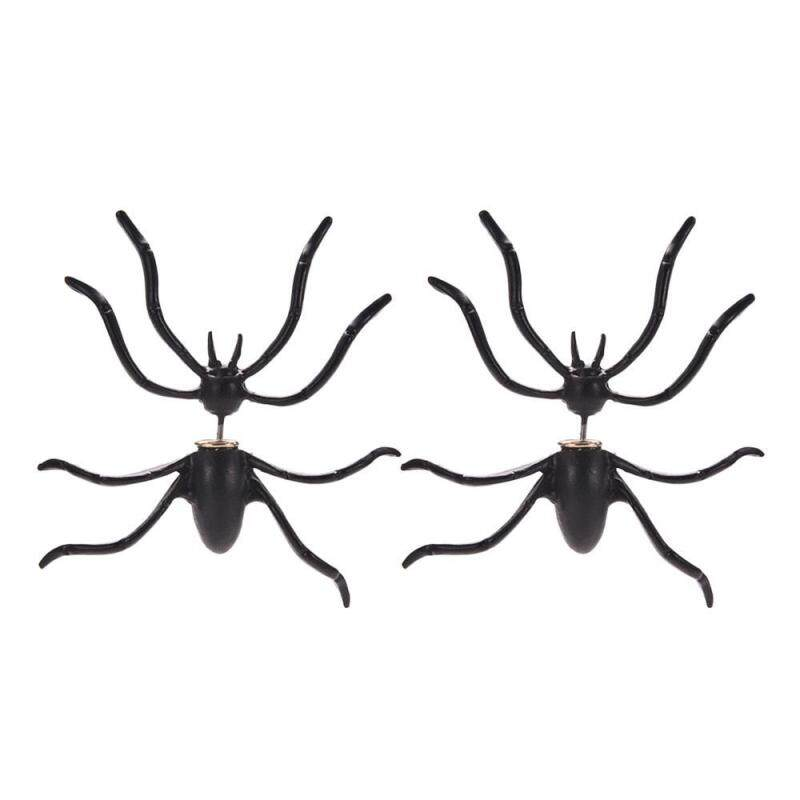 lanyasy 3D Holloween Jewelry Spider Earrings Fancy Ball Jewelry Fake Piercing Animal Stud Cosplay Favor,4.5*4cm Malaysia