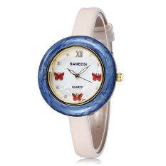 lanyasy EBAY hot in Saint fashion small butterfly Diamond Dial Watch Strap decoration ladies watch one generation (Blue)