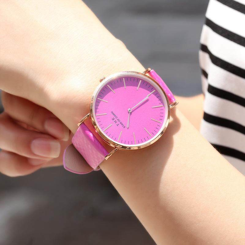 Leather Band Changing Color Quartz Movement Couple Wristwatches In The Sun Malaysia