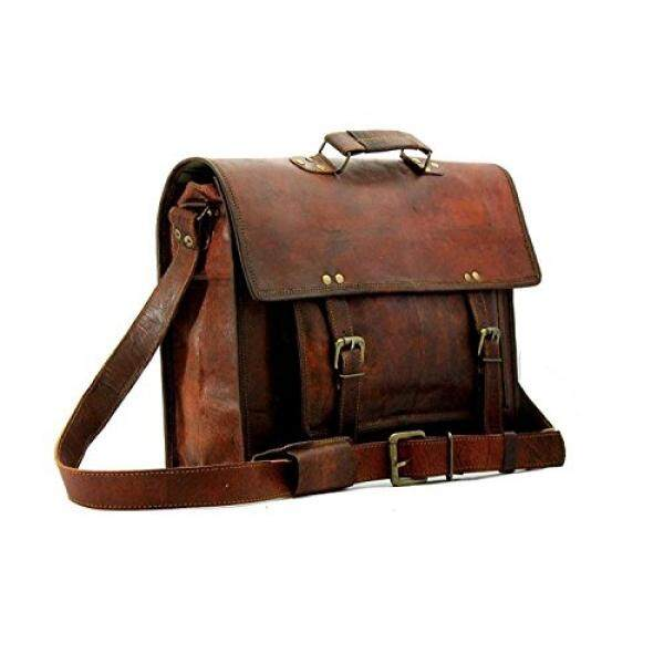 e413222f29 Leather Vintage Crossbody Messenger Courier Satchel Bag Gift Men Women ~  Business Work Briefcase Carry Laptop