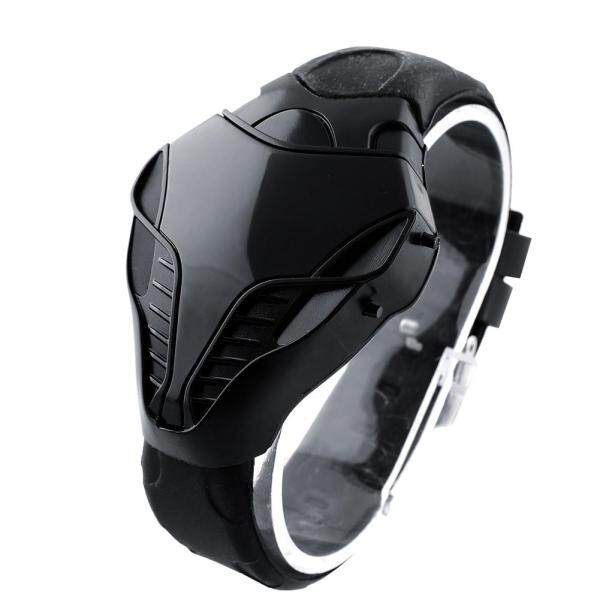 New Style Watch  LED Digital Fashion Boy Mens Cobra Watch Iron Triangle Dial Wrist Watch Malaysia