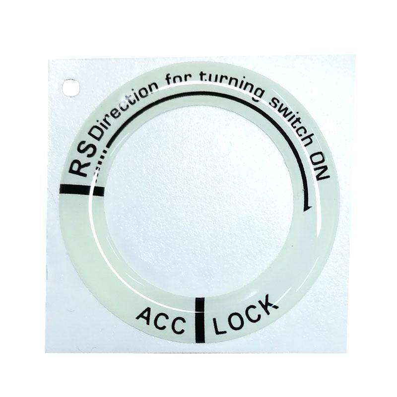 LED Luminous Car Ignition Switch On Key Hole Ring Sticker For Ford Toyota - intl