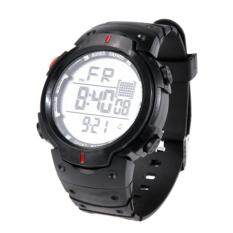LED Sports Outdoors Big Screen Waterproof Men Digital Electronic Watch (Red)(Red) Malaysia