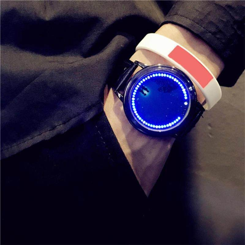 leegoal Creative LED Watch Personality Blue Light Touch Screen Wristwatch For Couples Lovers (M Code) Malaysia