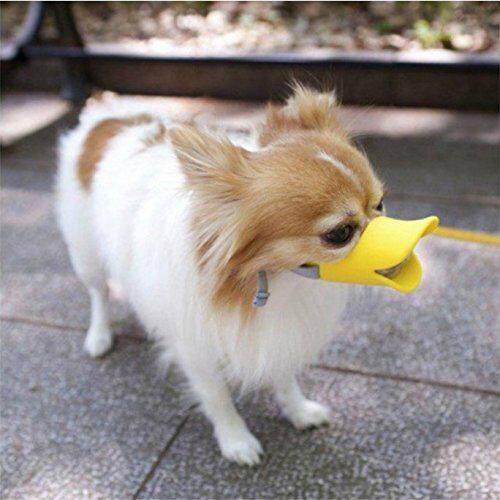 FS Leegoal Anjing Penutup Mulut untuk Anti-Gigitan Bebek Mulut Pola Silikon Topeng Berangus,