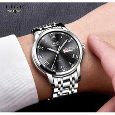 LIGE Watch Men Fashion Sports Quartz Clock Watches Top Brand Luxury Full Steel Business Waterproof mens Watch Relogio Masculino 9846 Malaysia