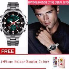 LIMITED SPECIAL OFFER Luxury Brand High Quality SKMEI New Mens Quartz-Watch Analog Digital LED 1146 (silver) Malaysia
