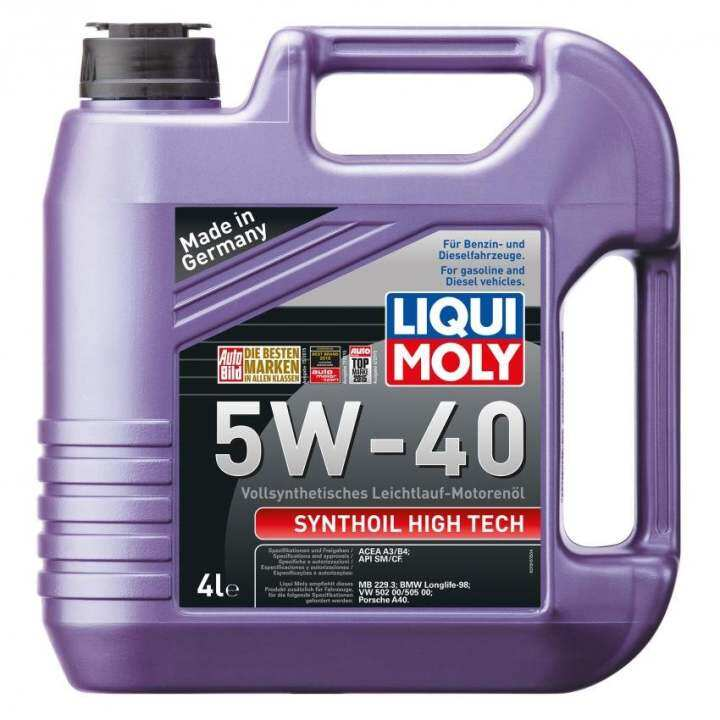 liqui moly fully synthetic synthoil high tech 5w 40 4l. Black Bedroom Furniture Sets. Home Design Ideas