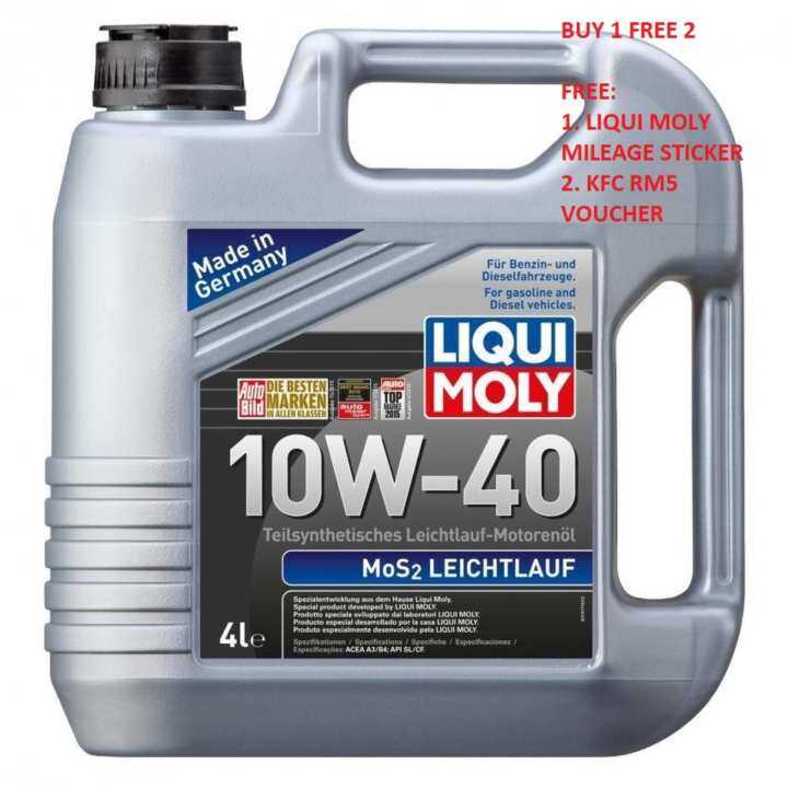 liqui moly semi synthetic mos2 leichtlauf 10w40 4l engine. Black Bedroom Furniture Sets. Home Design Ideas