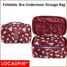 LOCAUPIN Portable Travel Bra Underwear Clothes Cosmetics Big Storage Bag  (Red Color)
