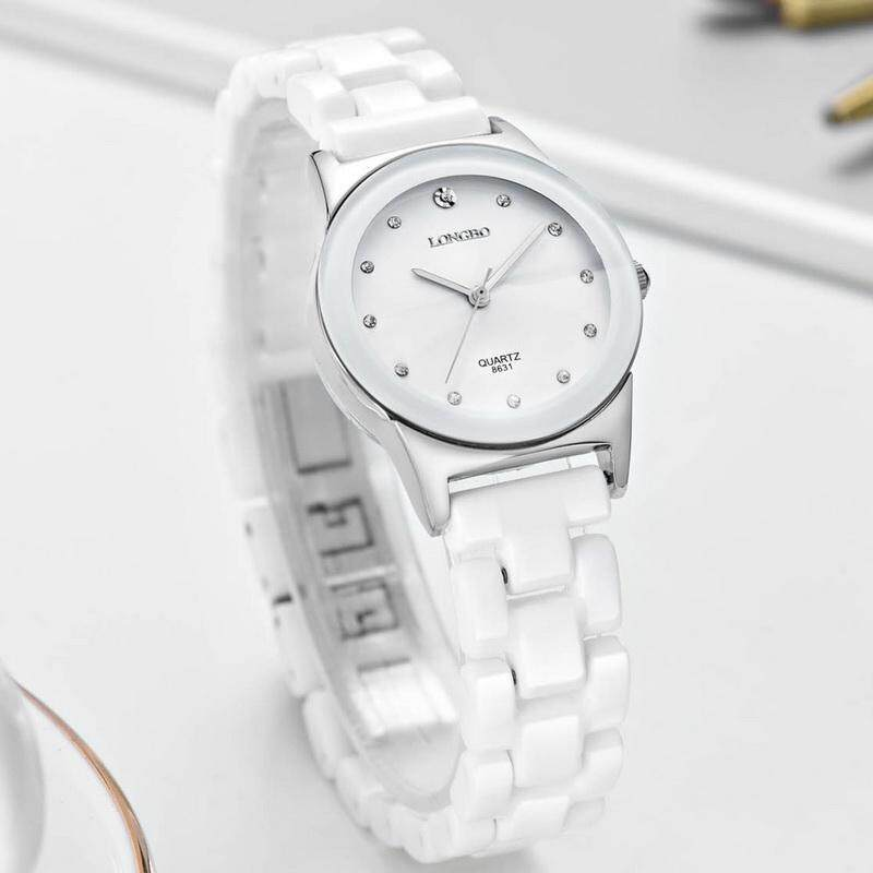 LONGBO Analog Fashion Casual Women Ceramics Strap Wrist Quartz Watch 8631 Malaysia