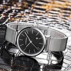 LONGBO Brand Fashion Modern Style Alloy Mesh Belt Women Casual Watch Luxury Lovers Couples Watches Man Date Day Waterproof Woman Rose Gold Quartz Wristwatch 5009 Malaysia