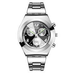 Longbo Simple Fashion Womens Three Decoration Dial Quartz Watches 397001(black) By Jiangyuyan.