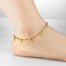 Love Heart Pendant Exquisite Small Fresh Simple Wedding Anklet Bracelet Copper 18 K Gold Plated Foot Anklets Designs for Women