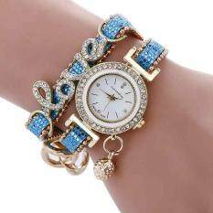 Love Pattern Sequins Watches Leather Strap Watch Analog Quartz Movement Malaysia