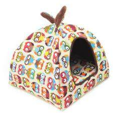 Lumiparty Soft Winter Detachable Rabbit Ears Warm Dog House Puppy Cats Bed Pet Nest Mat Kennel Color:owl Specification:small By Lumiparty.
