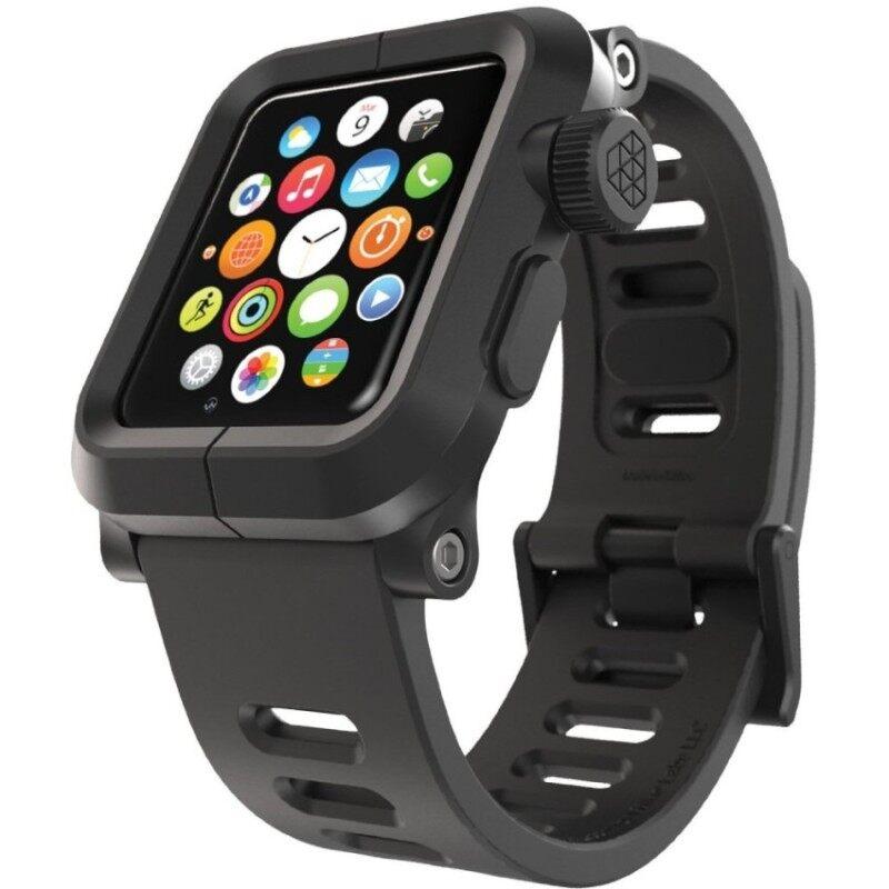 LUNATIK EPIK Polycarbonate Case and Silicone Strap for Apple Watch42mm. Black/Black Malaysia