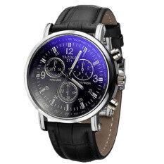 Luxury Fashion Crocodile Faux Leather Mens Analog Watch Watches New (Black) Malaysia