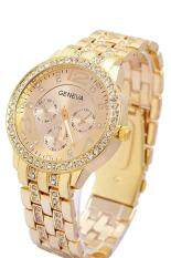 Luxury Geneva Unisex Women Bling Stainless Steel Crystal Wrist Watch Decor Malaysia