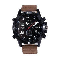 Luxury Mens Canvas strap Large Dial Military Sport Quartz Wrist Watch CO Malaysia