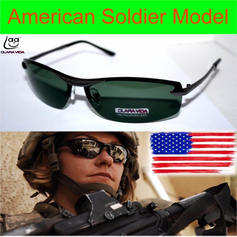 Mewah Tentara AS Model Driver TAC Ditingkatkan Polaroid Terpolarisasi UV 400 Pria Kacamata Hitam dengan Tas