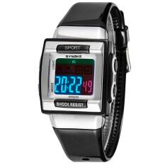 Luxury Waterproof Digital Electronic Watch Kids Children Boy Examination Watches Black Malaysia