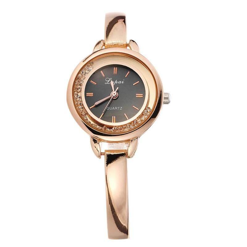 Lvpai Women Crystal Diamond Bracelet Top Quartz Dress Watch (Gold+Black) Malaysia