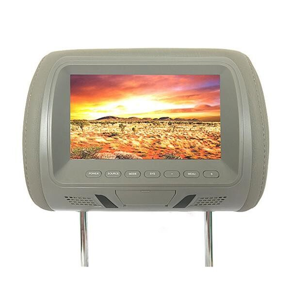 M-7667 7 Inch Car Head Rest Monitor Hd Lcd Color Monitor Display - Grey - Intl By Freebang.
