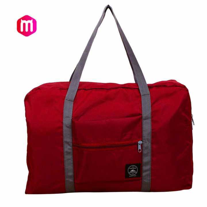 MagicWorldMall Darable Convenient Foldable Nylon Travel Luggage Storage Hand Shoulder Duffle Carry Bag Organizer