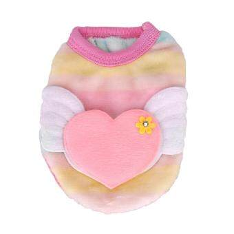 Magicworldmall Intimate Pet Products Pet Dog Cat Cartoon Animal Angel Wings Clothes Autumn Winter Warm Vest Clothing Xs(pink) - Intl By Magicworldmall.
