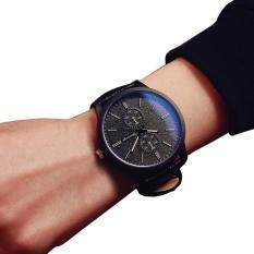 Male And Female Students Minimalist Fashion Personality Big Dial Watch Black Malaysia