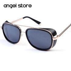 6858d55ef21 Male Steampunk Sunglasses Tony Stark Iron Man Matsuda Sunglasses Retro  Vintage Eyewear Steampunk Sun Glasses UV400