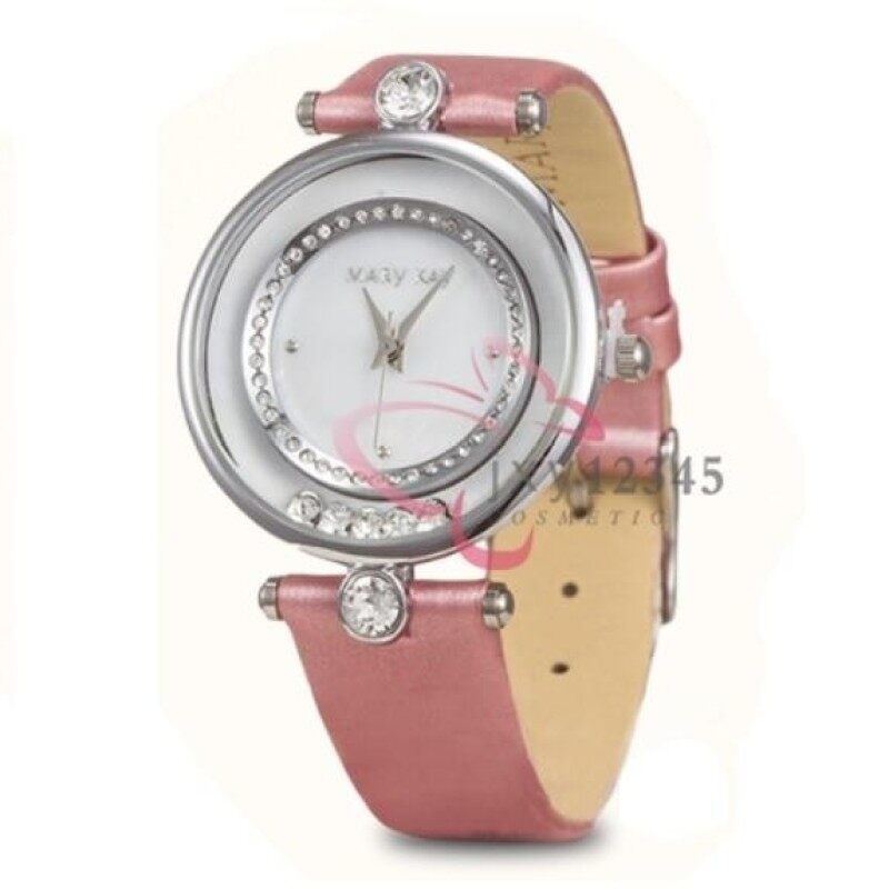 Mary Kay Authentic Luxury Fashion Ladies Watch with Genuine Leather - Pink Malaysia