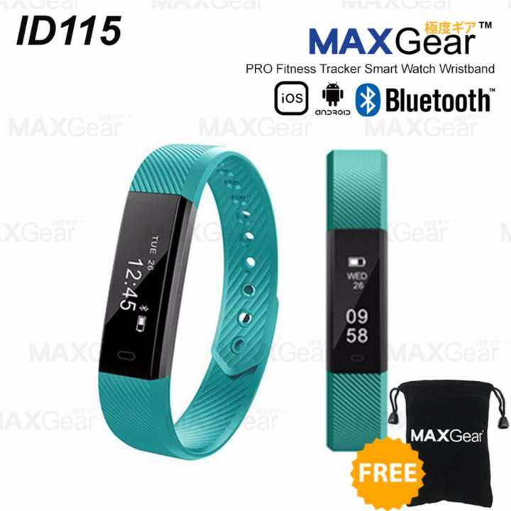 MAXGEAR ID115 PRO Fitness Tracker Smart Watch Wristband Android IOS-Green