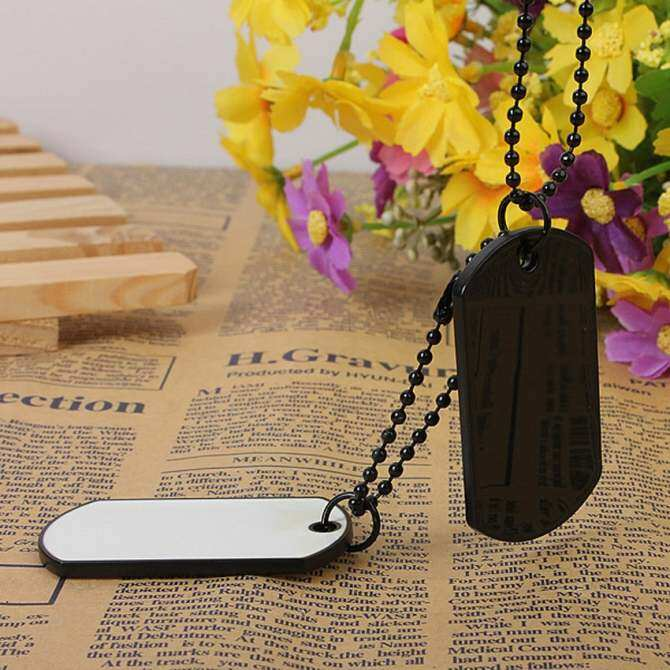 ... MEGA Military Army Style 2 Dog Tags Silver Ball Chain Mens Pendant Necklace - intl ...