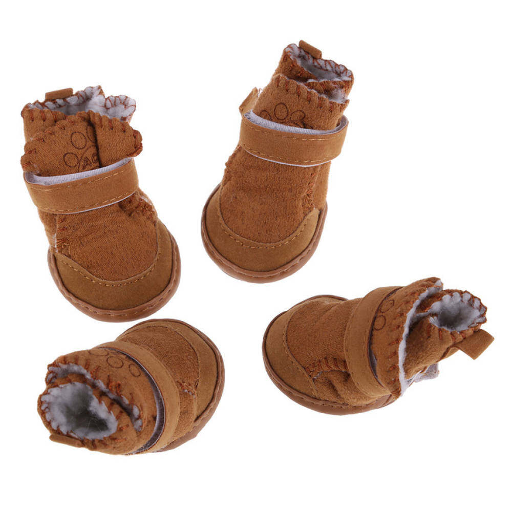 Mega New Fashion Lovely Warm Cotton Dog Pet Shoes Snow Boots Botteskhaki Xl By Qjq Store.