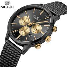 55863c84b47 MEGIR 2011 Top Brand Luxury Thin Watches Women Fashion Mesh Steel Band  Quartz-watch Chronograph