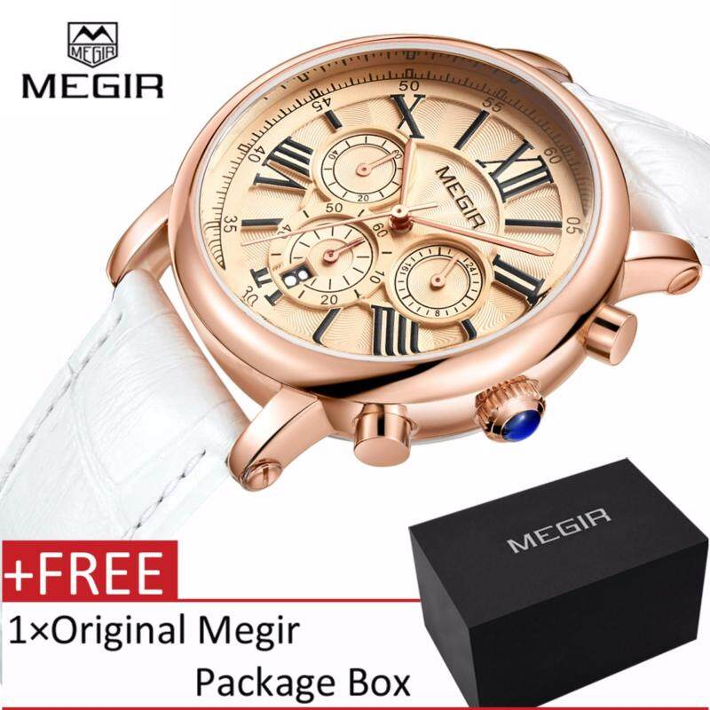 MEGIR 2058 Fashion Women Bracelet Watches Top Brand Luxury Ladies Quartz Watch Clock for Lovers Malaysia