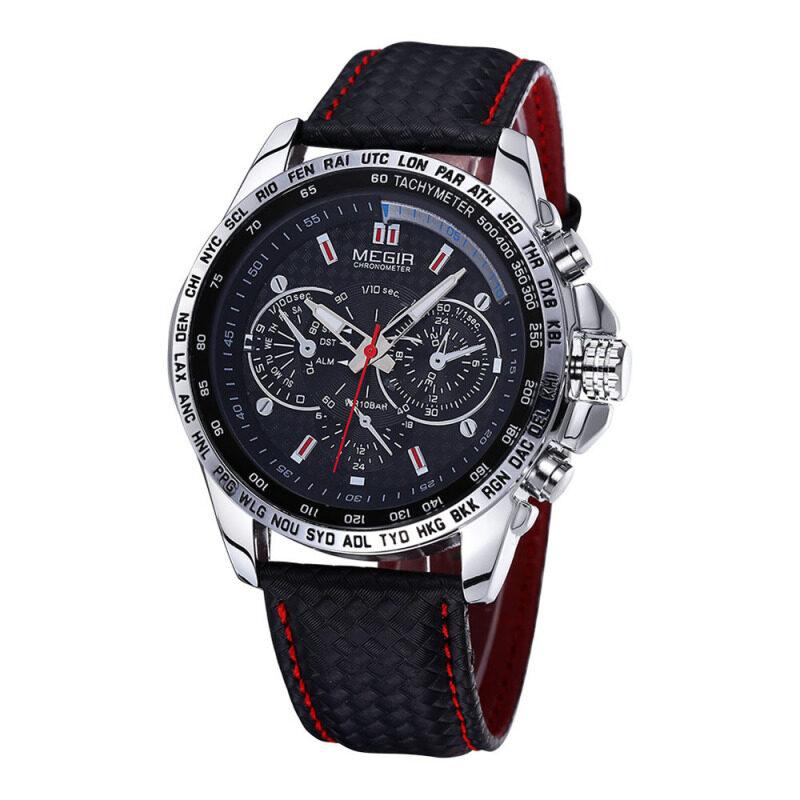 MEGIR Luxury Casual Sports Watch Brand Quartz Waterproof Clock Watch Fashion Mens Wristwatch Malaysia