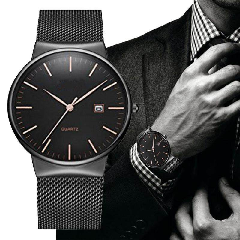 Men Date Display Classic Quartz Stainless Steel Wrist Watch Malaysia
